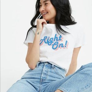 NWT Levi's 'Right On' Cotton Graphic Tee